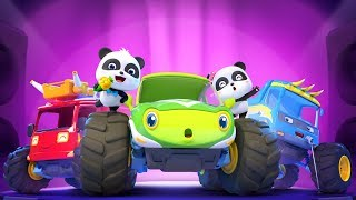 Baby Panda's Singing Contest | Monster Car Story | Kids Songs | BabyBus