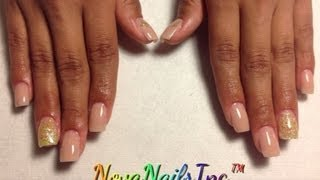 HOW TO: Short Nude Nails ♥ (with a little gold & yellow)