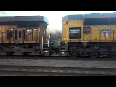 A Dirty UP Gevo Leads an SD70ACe on a Unit Tanker Train - 2/2/17