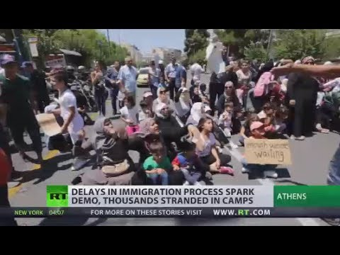 'Enough we are waiting': Delays in immigration process spark demo in Athens