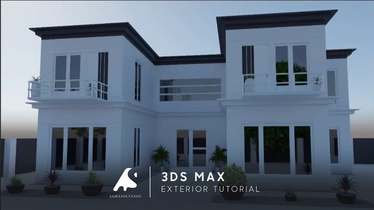 3ds max exterior modeling tutorial vray render youtube for Exterior 3ds max model