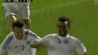 Pierwszy gol San Marino od ... 5 LAT ! Mecz SAN MARINO-POLSKA 1:5 10.09.2013