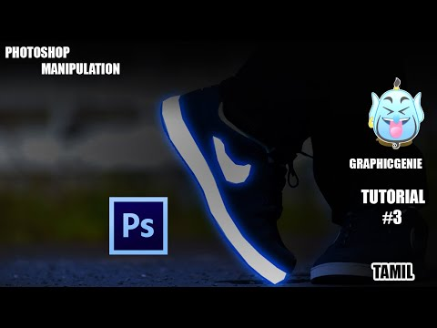 To Create The Neon Cloth Effect | Manipulation | In Photoshop  Tutorial |graphic Genie | Tamil💡