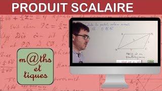 Calculer un produit scalaire - Première S