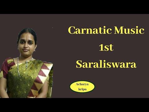 sarali swaras 1st saraliswara Learn how to sing Carnatic music vocal