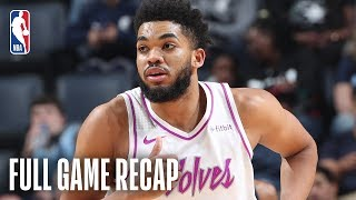 Timberwolves vs Grizzlies   Karl-Anthony Towns Records 33 Points & 23 Rebounds   March 23, 2019
