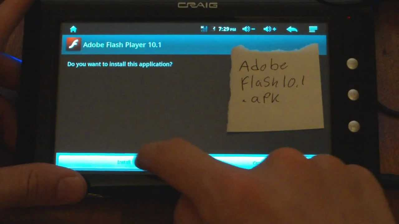 Adobe flash player for android tablets