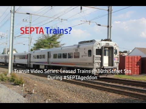 TVS-SEPTA Trains: Leased Train Sets At 30th Street Station During #SEPTAgeddon