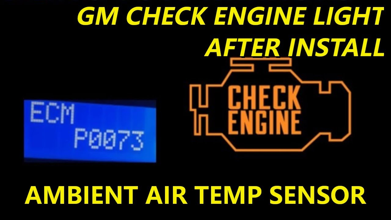 Fix Check Engine Light After Install Of Gm Tow Mirrors