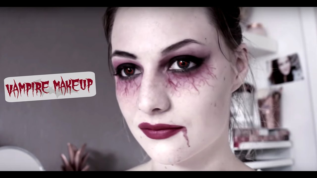 maquillage vampire facile makeup halloween youtube. Black Bedroom Furniture Sets. Home Design Ideas