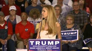 Ann Coulter Introduces Donald Trump at Iowa Speech