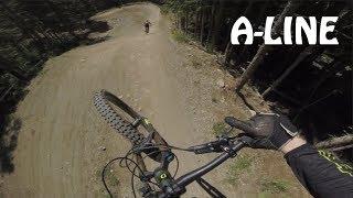 Whistler Bike Park - Follow Cam on A-LINE 2018