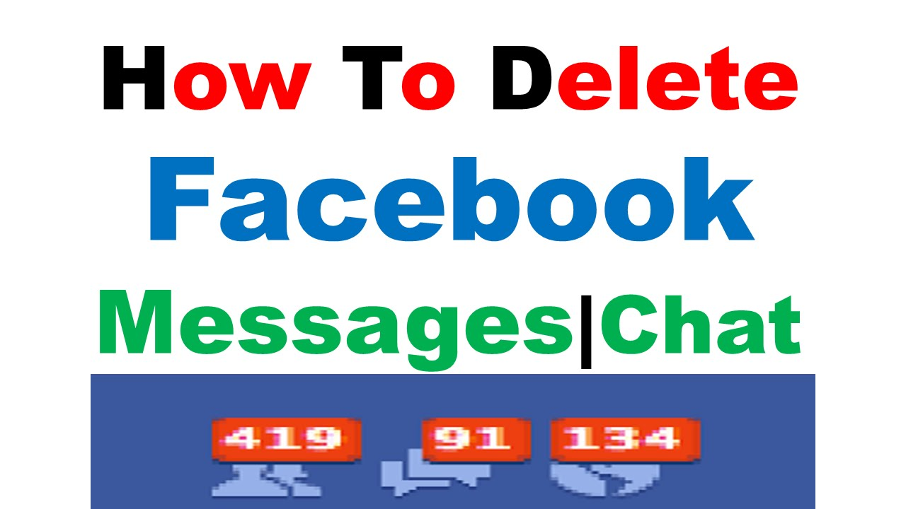 How to delete facebook message chat history in hindi youtube ccuart Gallery