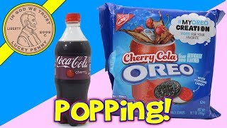 Oreo Cherry Cola Popping Candy Cookies - Cherry Coke Review