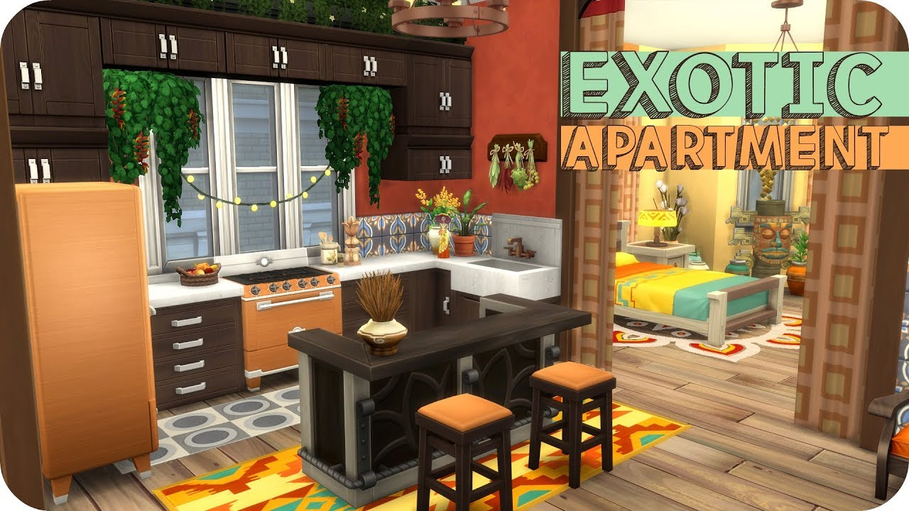 EXOTIC APARTMENT 🌵 | Sims 4 Speed Build - YouTube