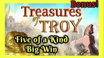 BONUS! BIG WIN 5 OF A KIND! TREASURES OF TROY