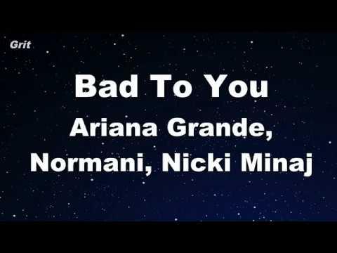karaoke♬-bad-to-you---ariana-grande,-normani,-nicki-minaj【no-guide-melody】-instrumental