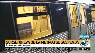 Surse: Greva de la metrou, suspendată