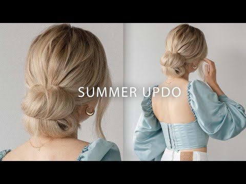 cute-easy-updo-for-summer-2020-🤍