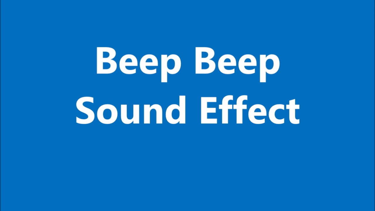 All Sound Effects: beep sound effects
