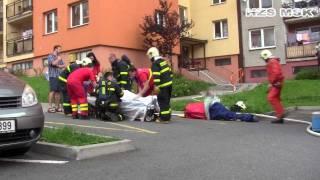30.7.2011, Ostrava - Poruba, Požár - výškové budovy
