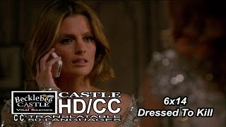 "Castle 6x14  ""Dressed To Kill"" Beckett Having Cold Feet? (HD/CC)"