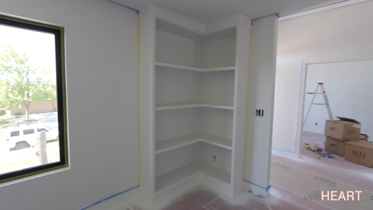 Diy Corner Bookcase Withheart Youtube