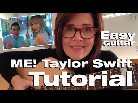 ME! 🥁Taylor Swift 🎸 EASY Beginners Guitar Tutorial 🎸 Gabrielle Johnson thumbnail