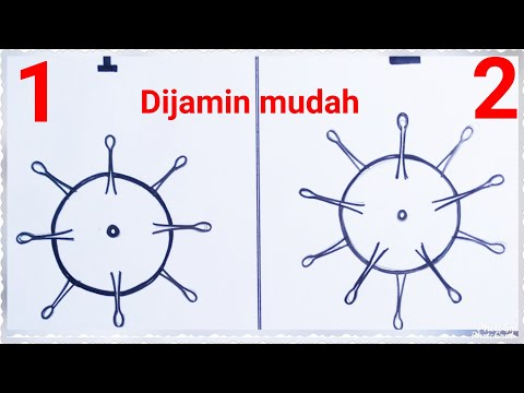 Easy Way to Draw Corona Covid-19 Virus prevention by social ...