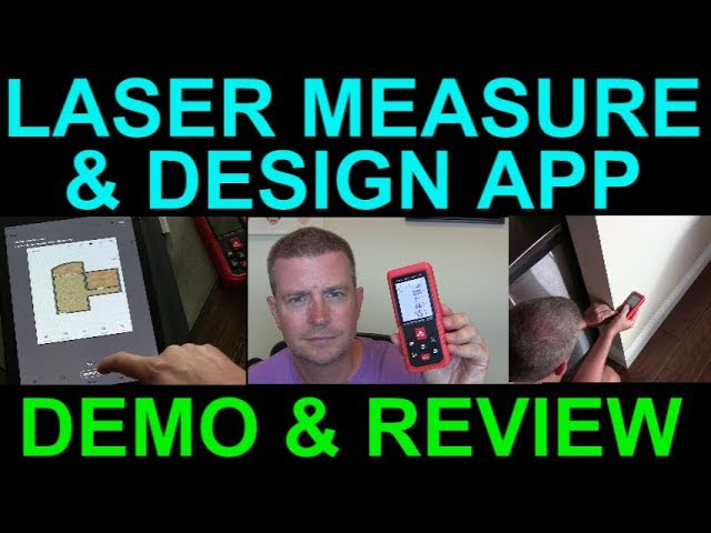 Laser Measure Bluetooth Measuring Device Professional Floor Plan App By Lianfangshenqi Review Demo Youtube