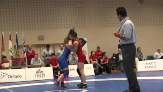 2015 JR CDN NAT FW48kg Mackenzie Smallwood (Mount Top) vs Raeggan Bressette (Lonwest)