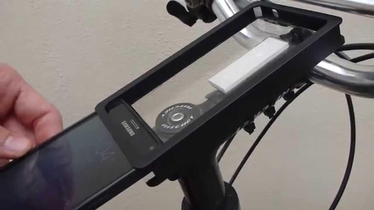 Bicycle Phone Mount >> Best Diy Bike Handlebar Phone Mount Youtube