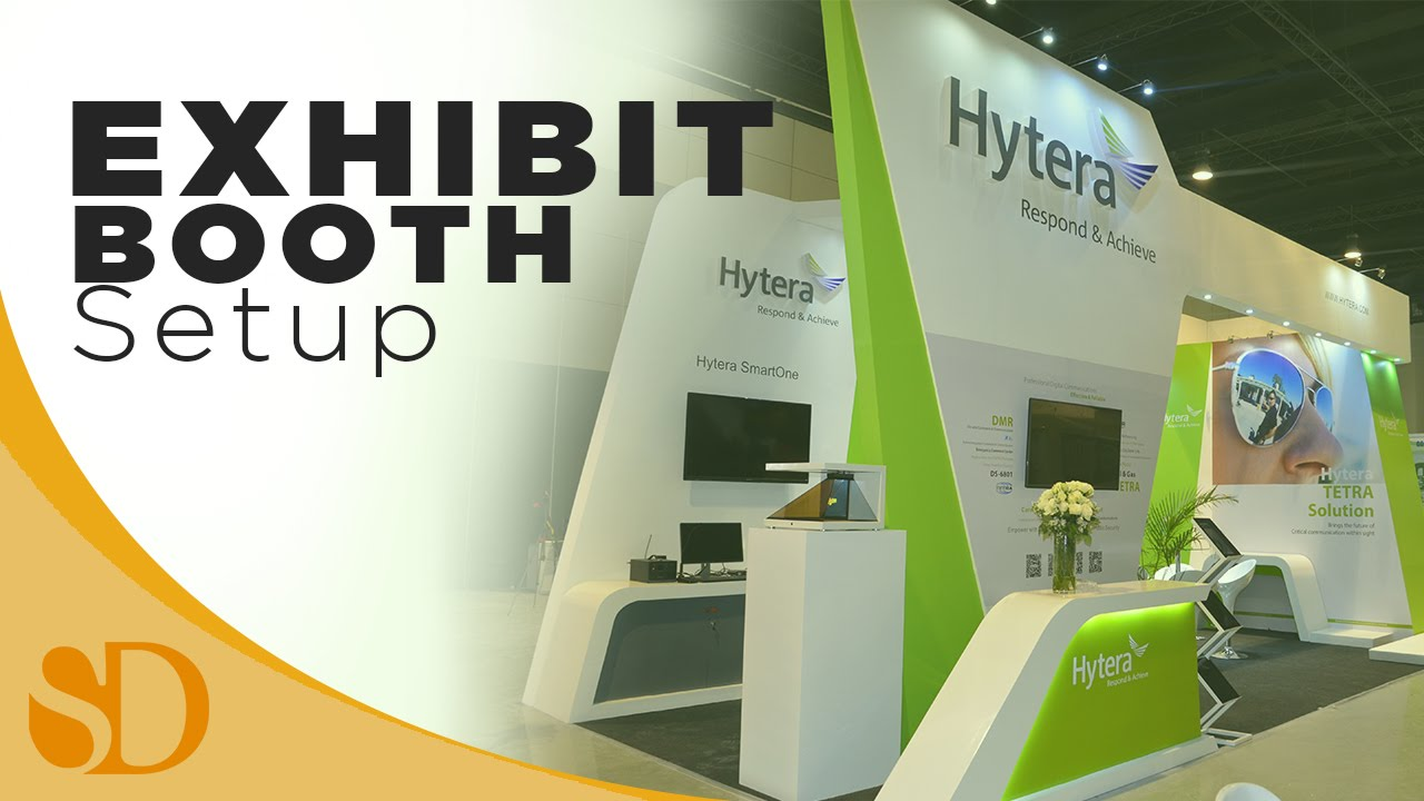 Exhibition Booth Checklist : Hytera exhibit booth setup radshow on disaster resilience