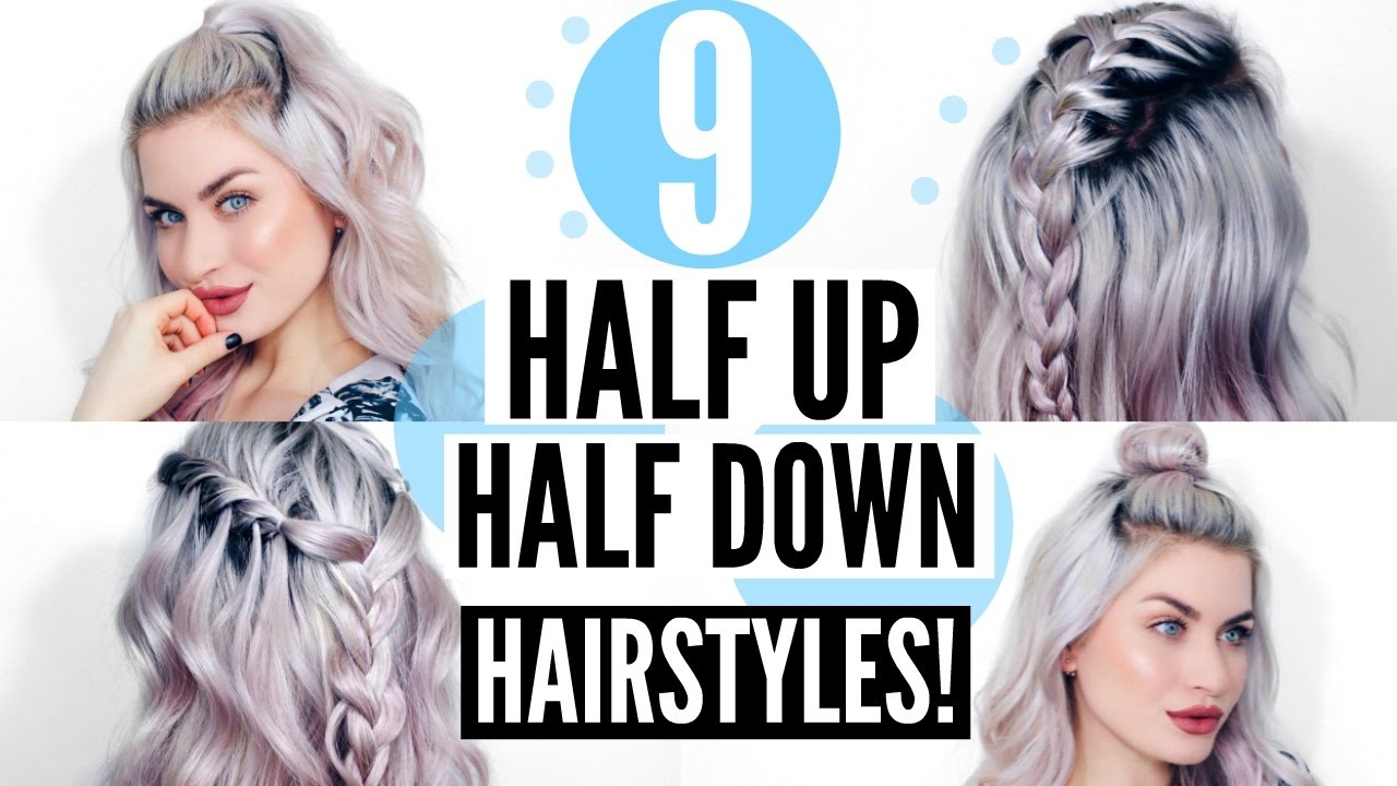 HALF DOWN HAIRSTYLES! QUICK & SIMPLE