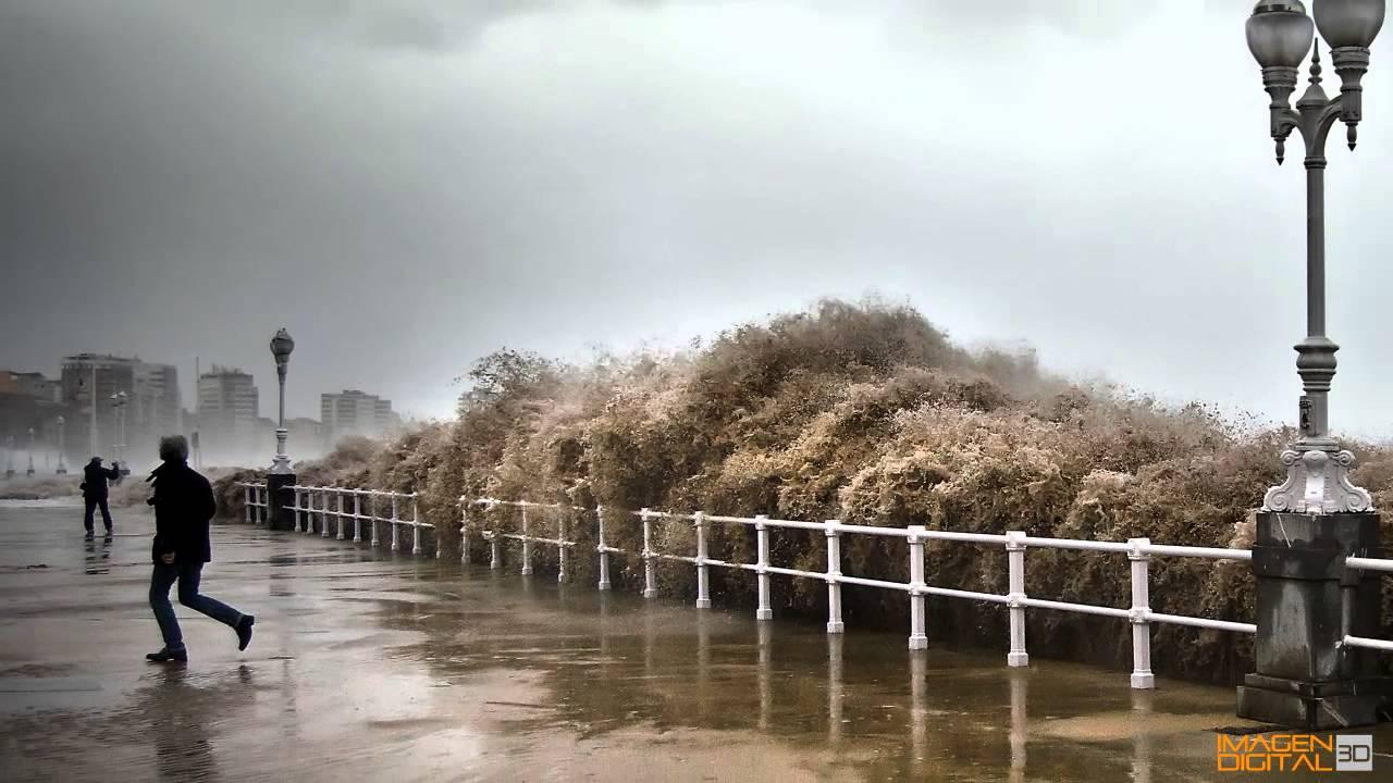 Temporal en gijon 2014 olas de 11 metros youtube - Fotos del sporting de gijon ...