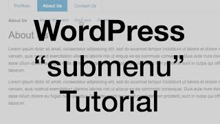 WordPress Child Page Menu (parent & subpages)