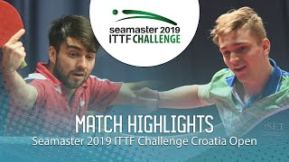 Juan Lamadrid vs Peter Hribar | 2019 ITTF Challenge Croatia Open (Group)