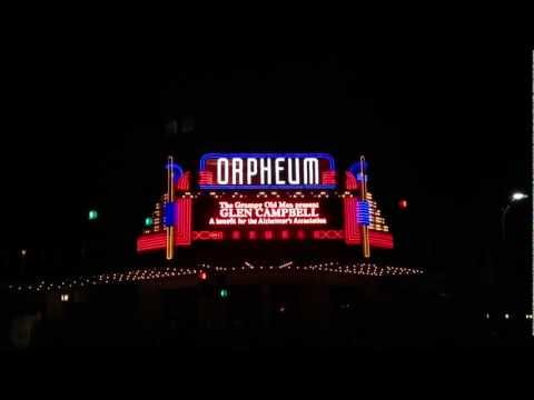 Glen Campbell's Orpheum Marquee in Wichita, KS