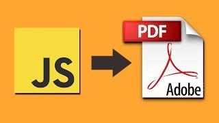 jsPDF Tutorial - Part 4: Create Filled PDF Form