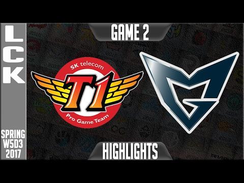 SKT vs Samsung Galaxy Highlights Game 2 - LCK Week 5 Day 3 Spring 2017 - SKT vs SSG G2