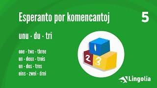 Sprachkurs Esperanto Lektion 5