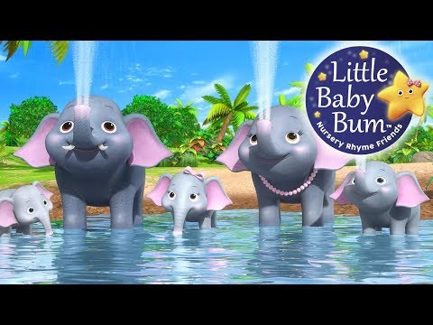 Five Elephants Having A Wash | Nursery Rhymes | Original Song By LittleBabyBum!
