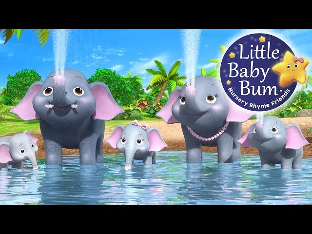 Little Baby Bum | Five Elephants Having a Wash | Nursery Rhymes for Babies | Songs for Kids
