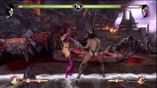 Mortal Kombat 9 - Jade vs Mileena Fight (Story Mode) HD