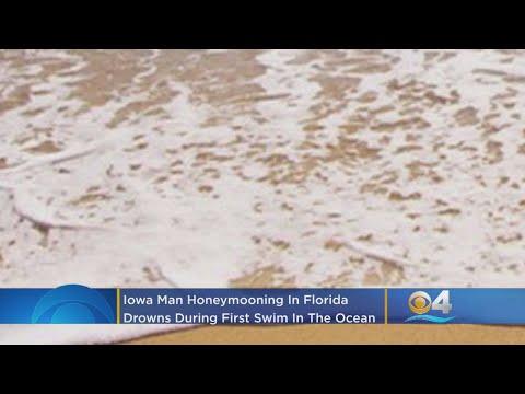 Iowa Man Honeymooning In Florida Drowned During First Swim In The Ocean