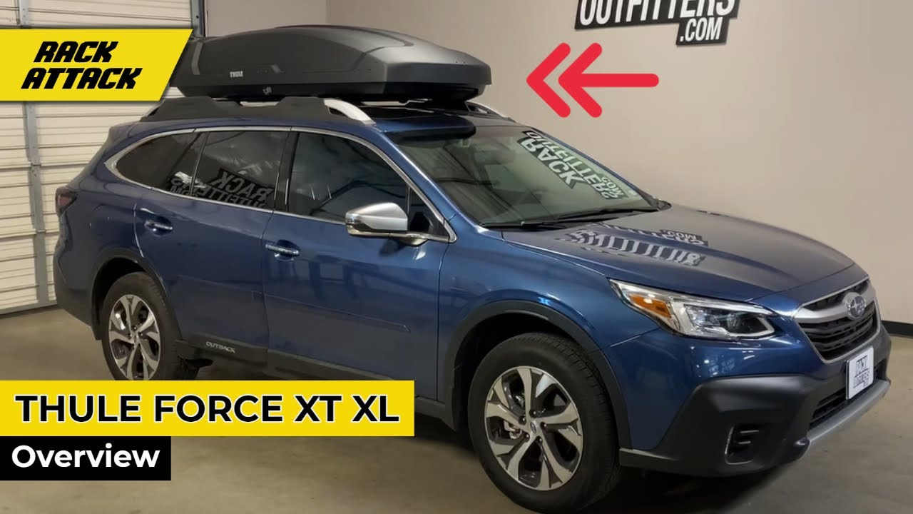 2020 Subaru Outback Wagon With Thule Force Xt Xl Roof Top Cargo Box Youtube