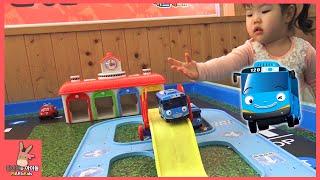 타요 키즈카페 어린이 자동차 장난감 놀이 ♡ 꼬마버스 타요버스 미끄럼틀 Tayo bus car toys тайо автобус Игрушки | 말이야와아이들 MariAndKids