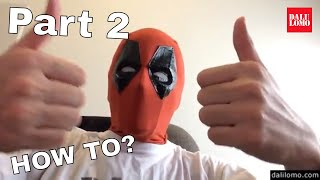 How to Make Deadpool Movie Mask Part 2 - Faceshell & Eyes #1810 DIY