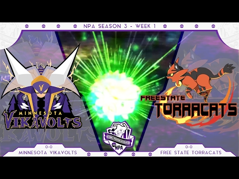 Sandstorm! | Minnesota Vikavolts VS Free State Torracats Week 1 NPA S3  | Pokemon Sun Moon WiFi