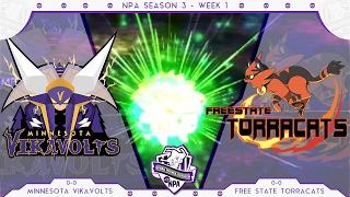 Sandstorm! | Minnesota Vikavolts VS Free State Torracats Week 1 NPA S3  | Pokemon Sun Moon WiFi